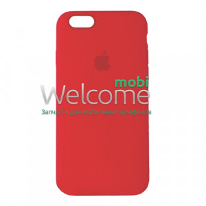 Silicone case for iPhone 6/6S (14) red (full cover)